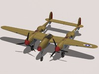 3ds max lockheed p-38 lightning
