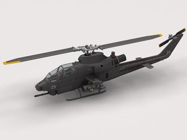 3d model ah-1f cobra