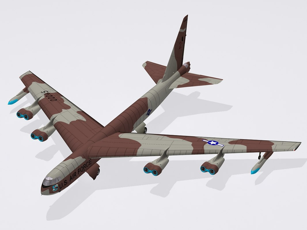 3ds max b-52 stratofortress bomber