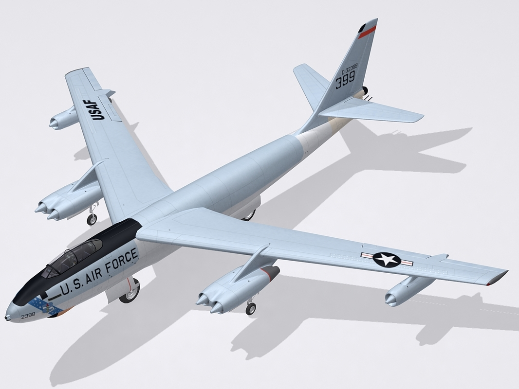 b-47 stratojet bomber 3d model