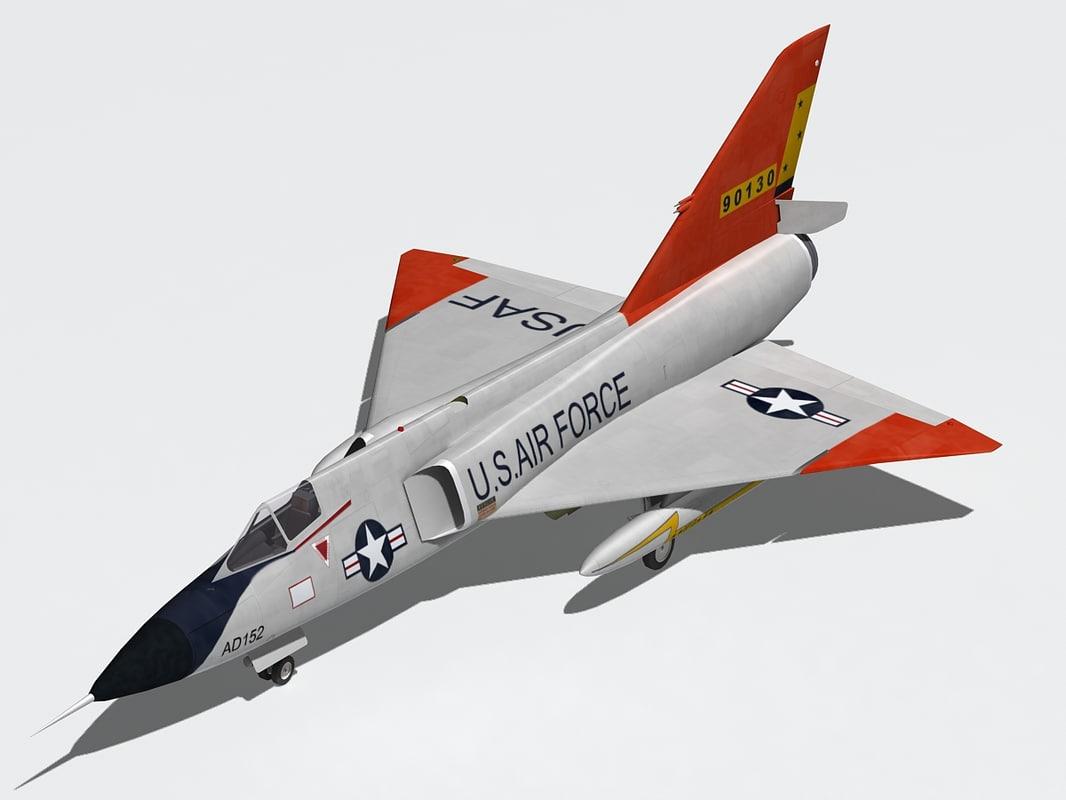 convair f-106 3d model