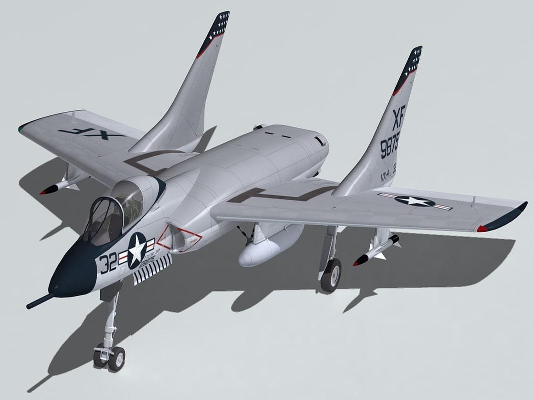 3d model of vought f7u