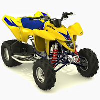 3d suzuki ltz-400 quad model
