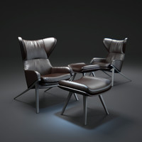 3d p22-leather-armchair