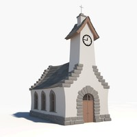 cartoon church 3ds