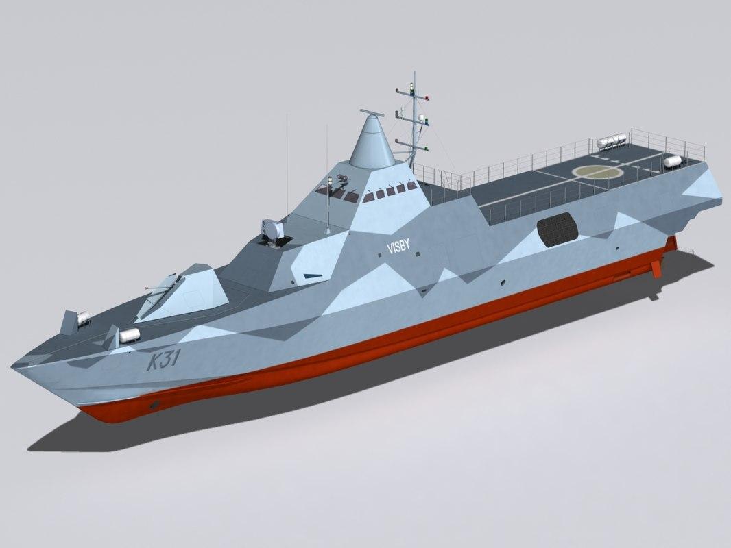 visby corvettes 3d max