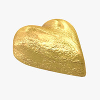 Chocolate Candy Heart in Gold Foil