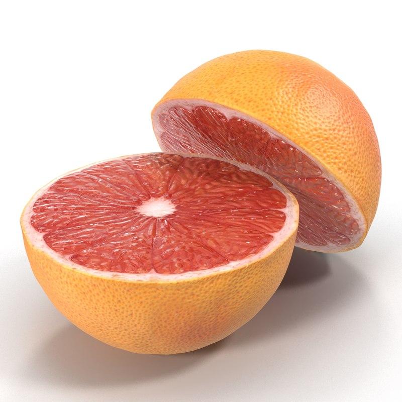 c4d grapefruit cross section 2