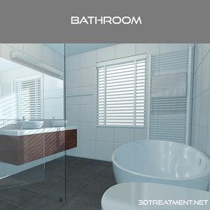 cinema4d bathroom interior