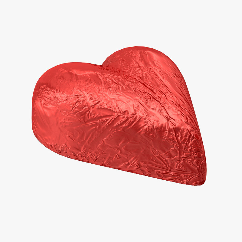 chocolate candy heart red 3d 3ds
