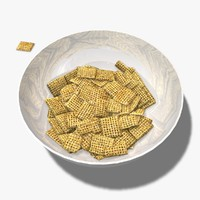 pieces cereal 3d model