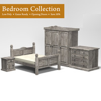 3d bedroom furnishings drawers