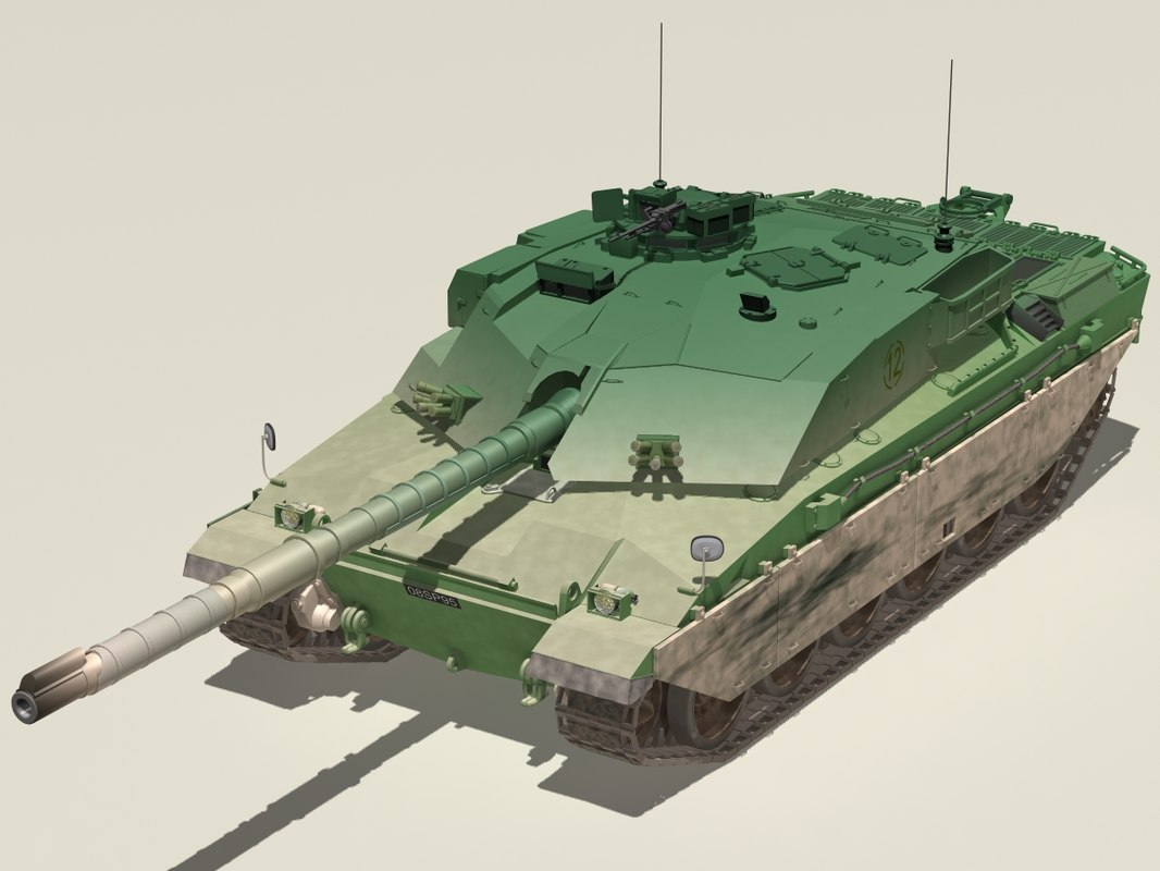 3d british challenger 1 battle tank model