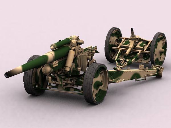 3d model of 15 18 howitzer