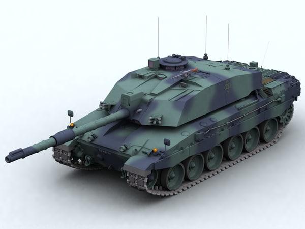 3d model fv4034 challenger 2 battle tank