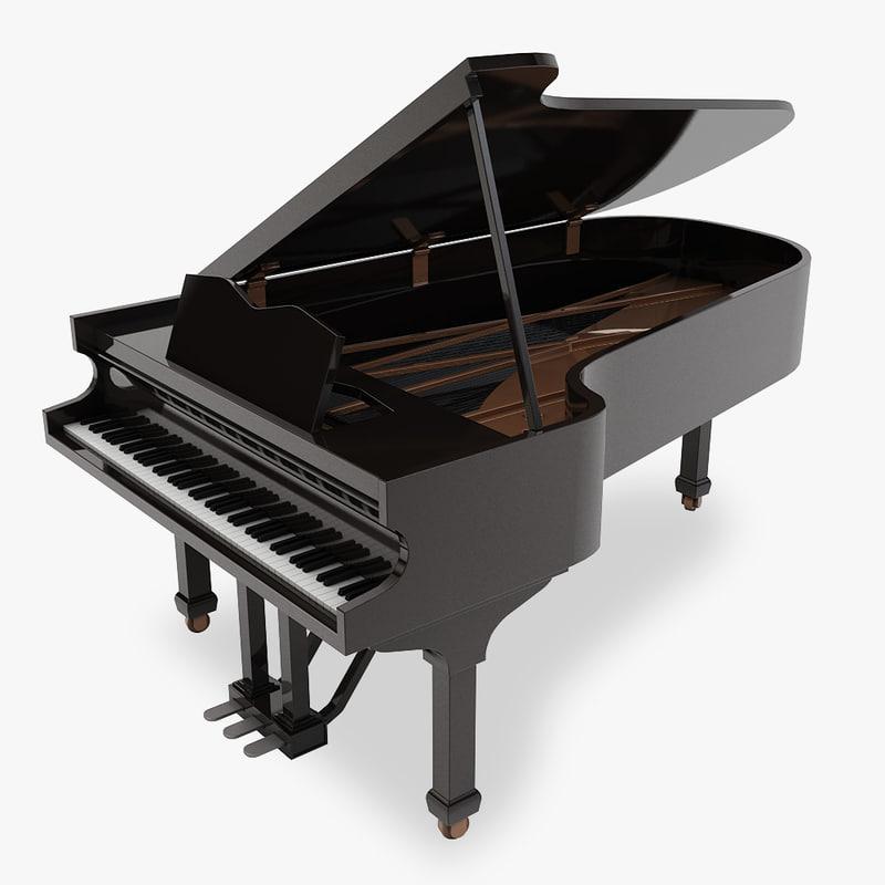 grand piano 3ds