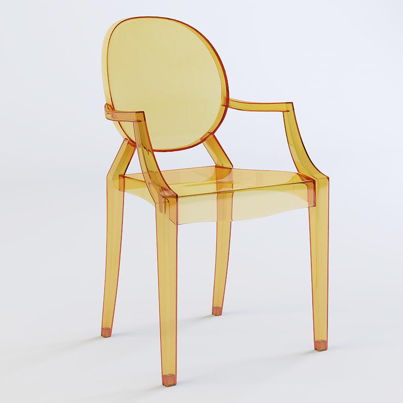 3d chair kartell ghost model