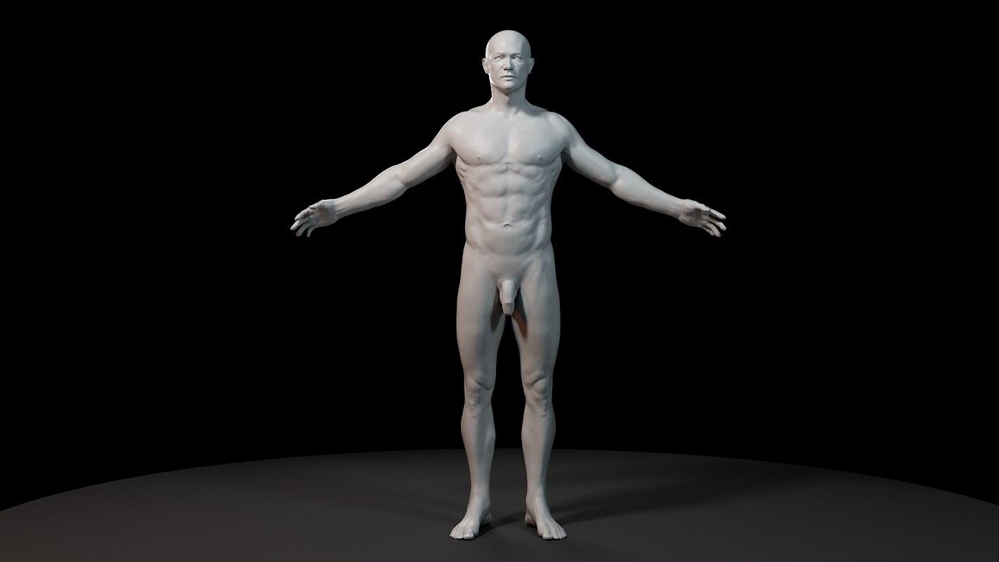3d max anatomy man