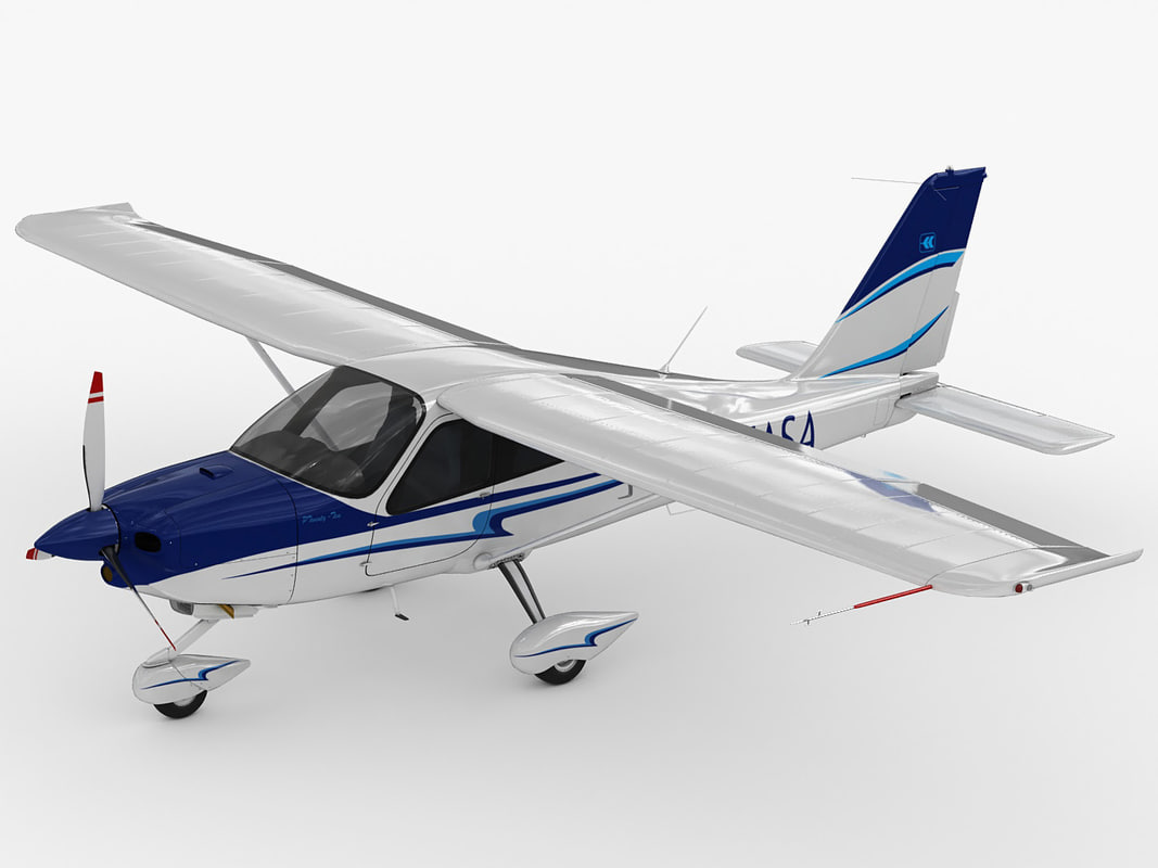 3d tecnam p2010 2010 model