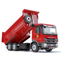 3d new mercedes actros dumper model