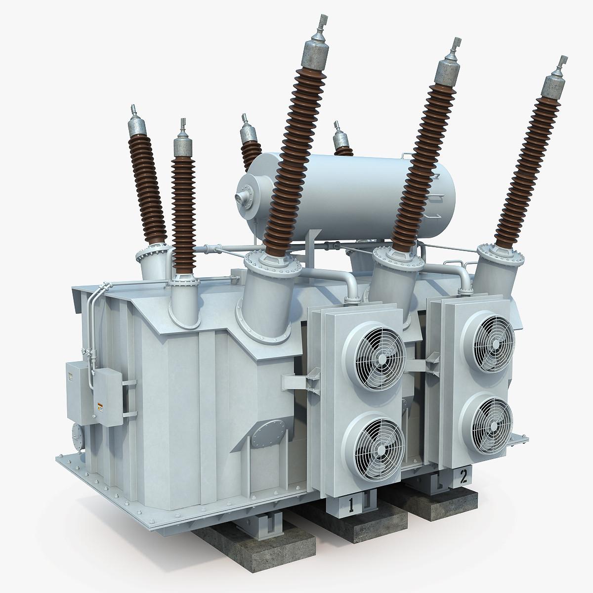 3d power transformer model