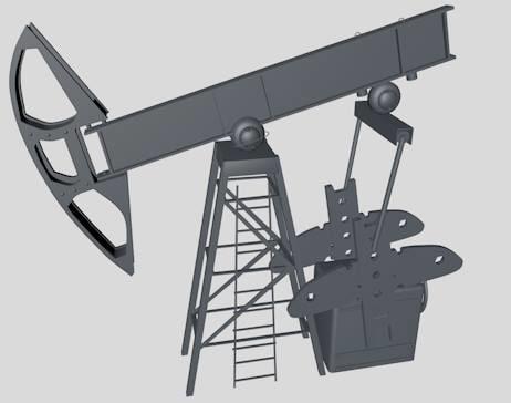 3d oil rocker pump