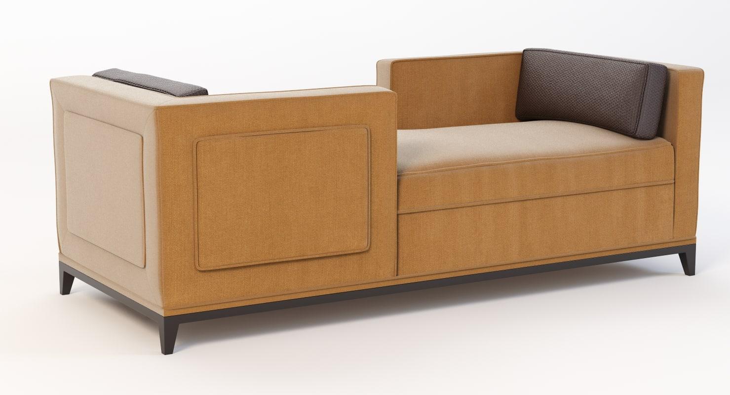 raconteur sofa 3d 3ds