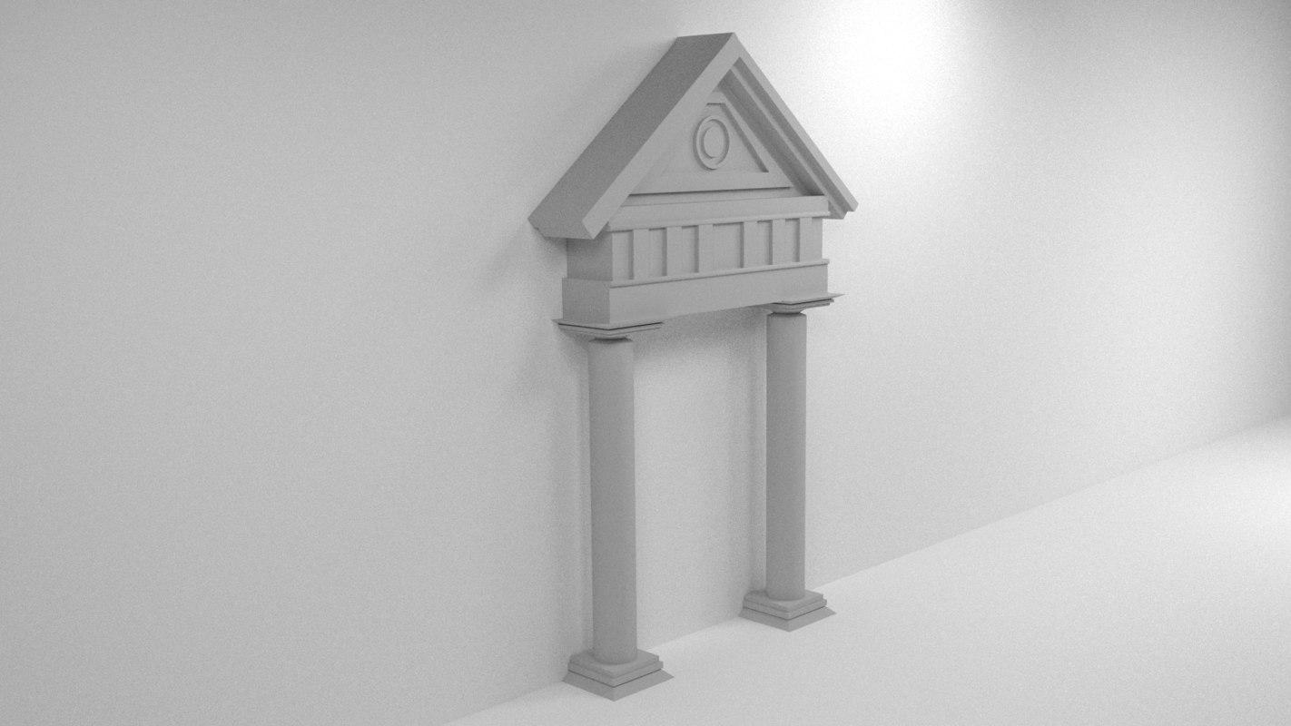 3d model roman style gate