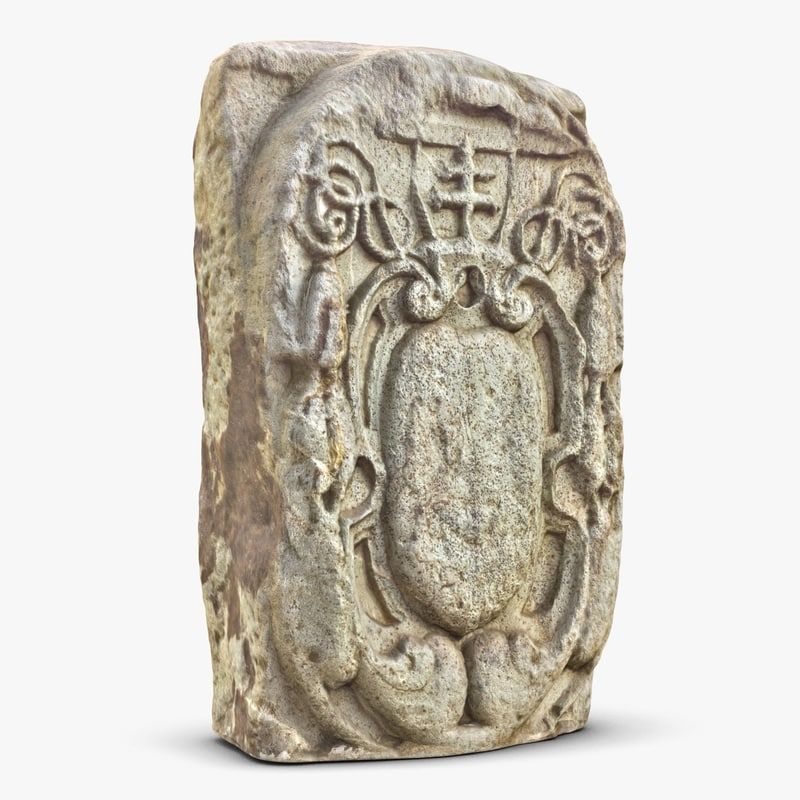 3d model decorated stone 1