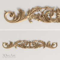 carved scroll cnc 3d model