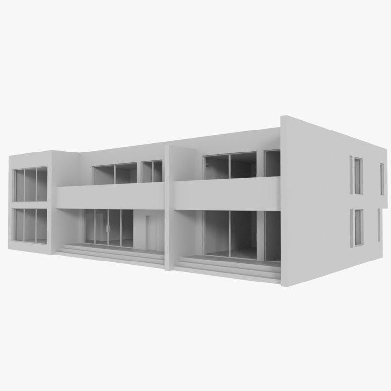 modernist interior 3ds