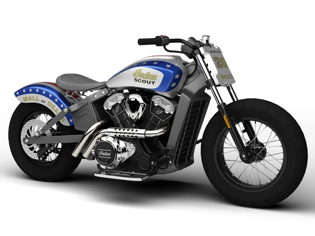 indian scout wall death 3d max