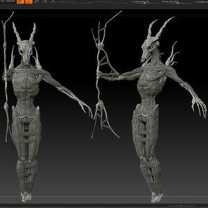 3d mummy model