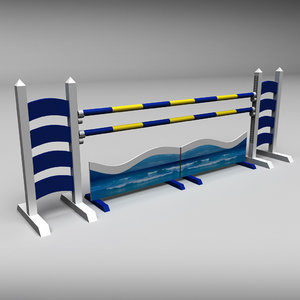3d obj horse jumping obstacle