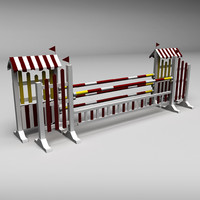 3d model horse jumping obstacle