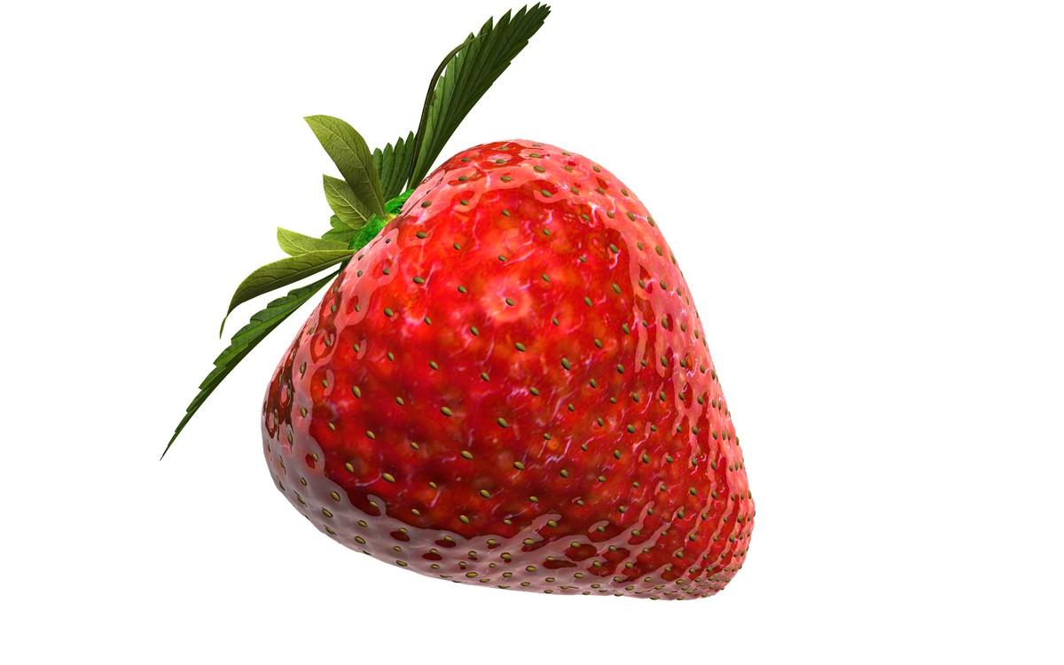 3d strawberry background model