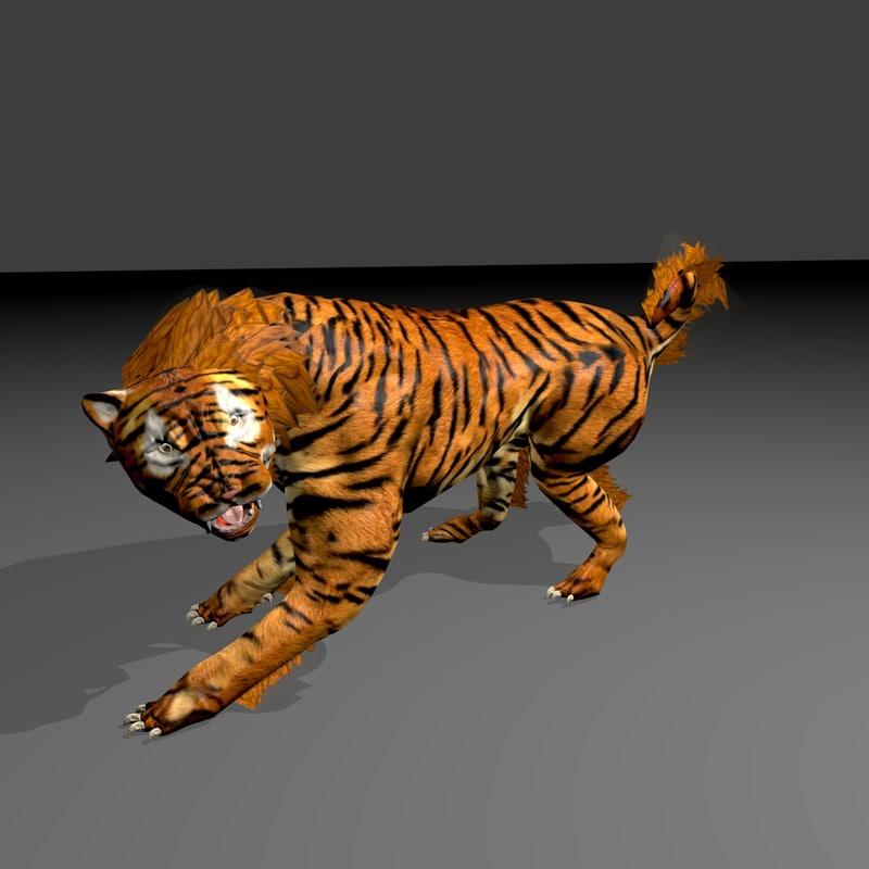 3d saber cat model