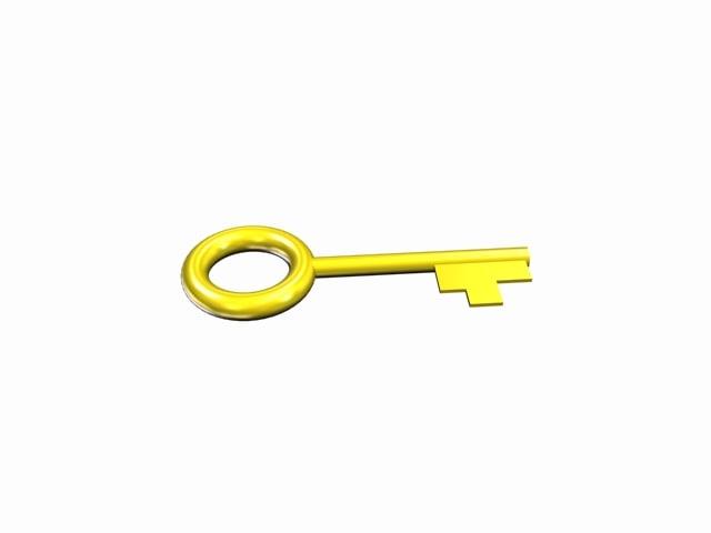 3d highpoly key model