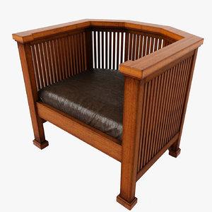 chairs frank lloyd 3d max