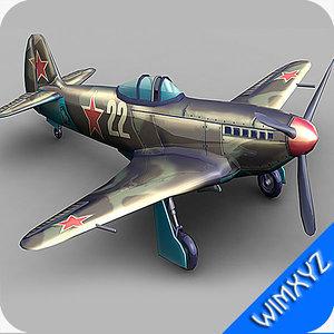 3d aircraft yak-3