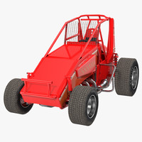 non-wing sprint car red 3d 3ds