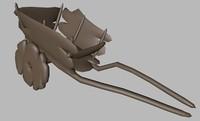 3d model cart waggon