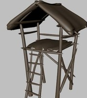 watchtower tower 3d obj