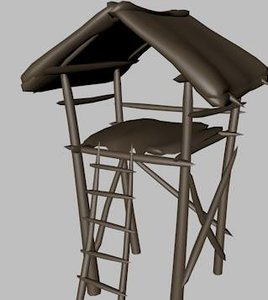 watchtower tower 3d obj