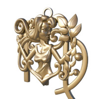 horoscope sign virgo 3d model