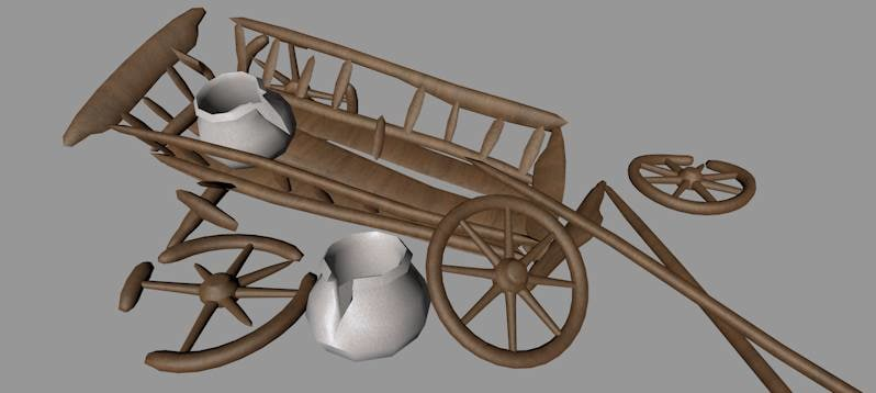 3d model of waggon wreck
