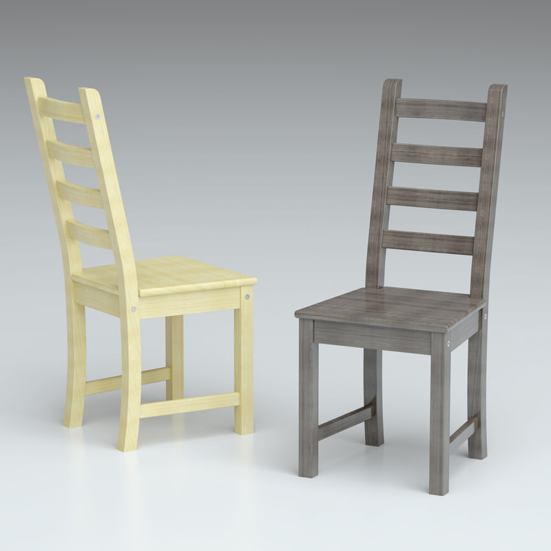 3d realsize kaustby chair ikea model