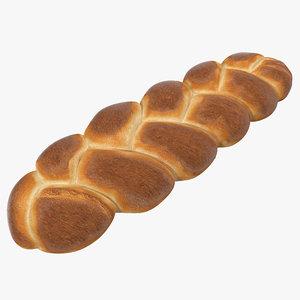 3d challah bread