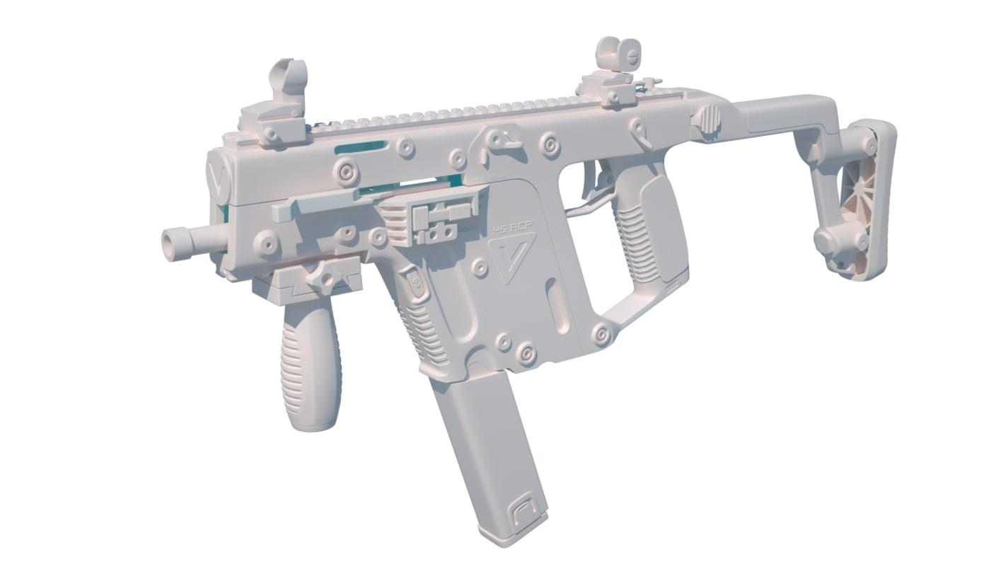 submachine gun kriss 3d model