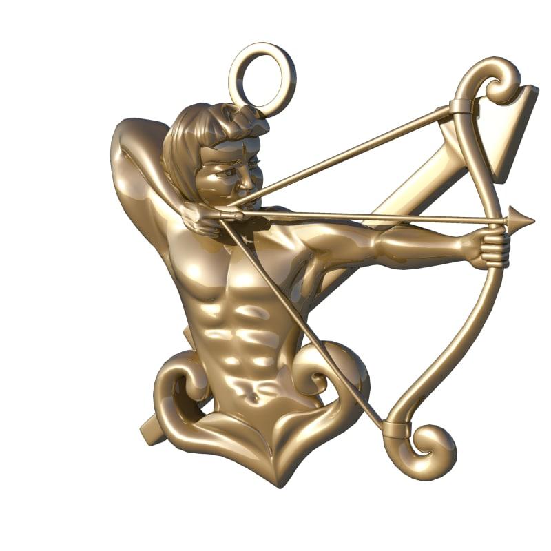 horoscope sign sagittarius 3d model